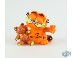 Garfield avec un nounours, I love my teddy !