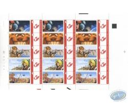 Planche de 15 timbres, Arleston