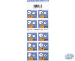 Planche de 10 timbres, Le Chat