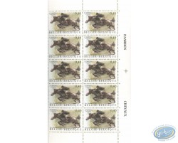 Planche de 10 timbres jumping