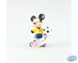 Mickey en tenue de foot, vareuse jaune, Disney