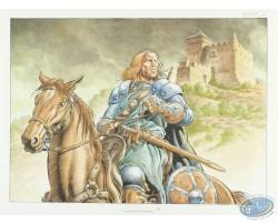 A cheval partant du château