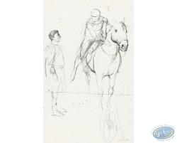 Homme et cavalier (croquis)