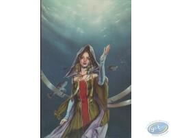 Femme sous l'eau