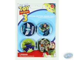 4 badges Toy Story et ses amis, Disney