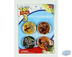 4 badges Toy Story et ses amis, Disney (2ème version)