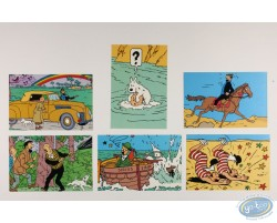 Carte Q8, Assortiment de 6 cartes Tintin