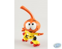 Jojo' Snorkie orange, fait du roller