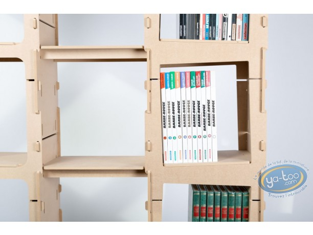 Furniture, Bookcase 2 columns 'Skive'- kit 4