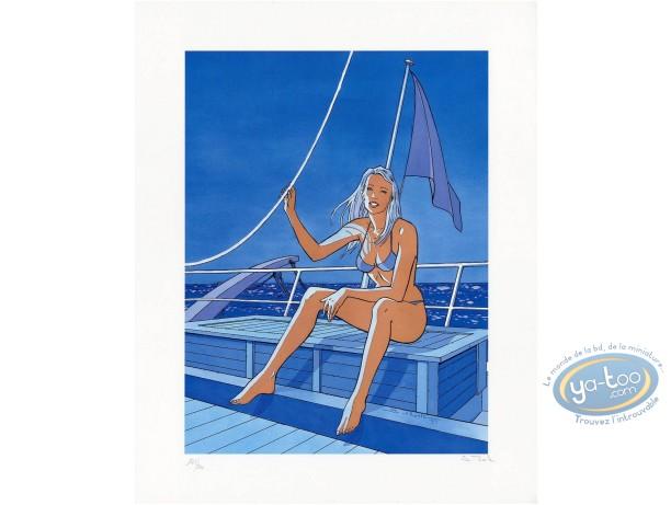 Offset Print, Bleu Lézard : Ellen