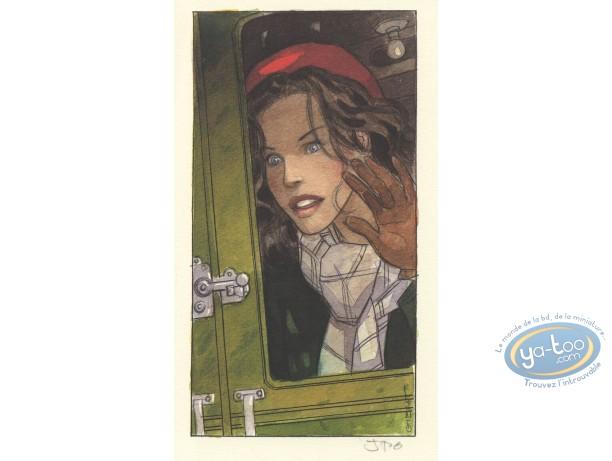 Bookplate Offset, Vol du Corbeau (Le) : Jeanne (signed)