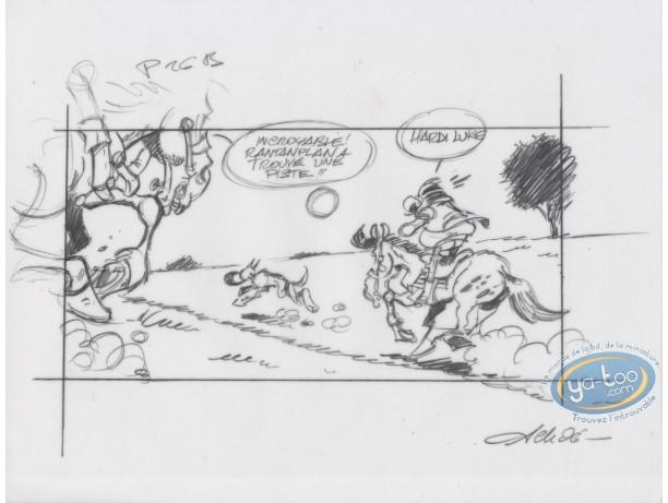 Bookplate Offset, Lucky Luke : Rantanplan (tracing)