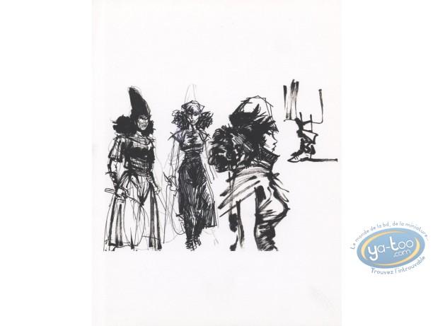 Bookplate Offset, Thorgal : Kriss (felt sketch)