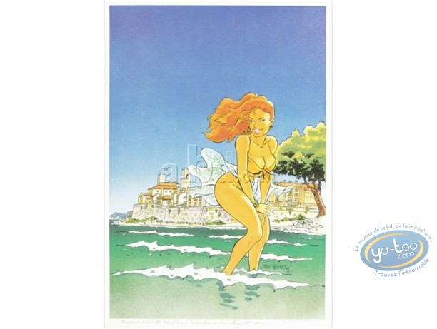 Offset Print, Woman in Antibes