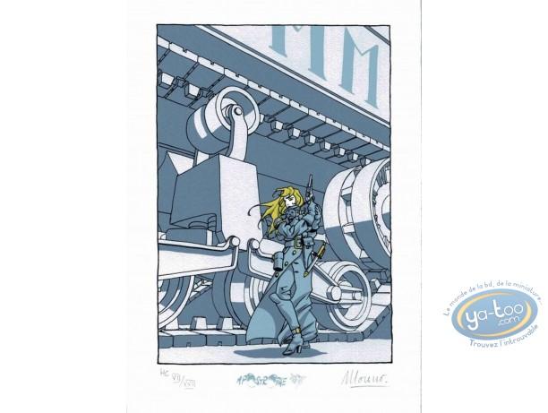 Bookplate Serigraph, Régulateur (Le) : Hestia & the Tank