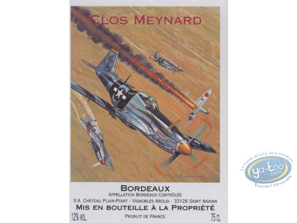 Wine Label, Buck Danny : Fight - Clos Meynard