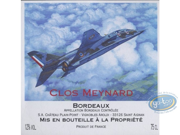 Wine Label, Buck Danny : Plane - Clos Meynard