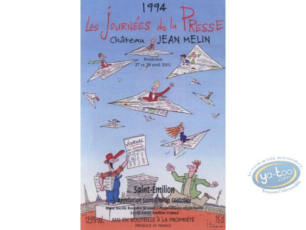 Wine Label, Journées de la presse - Chateau Jean Melin 1994