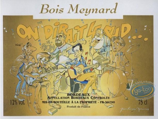 Wine Label, Miniac, On dirait le sud... - Bois Meynard