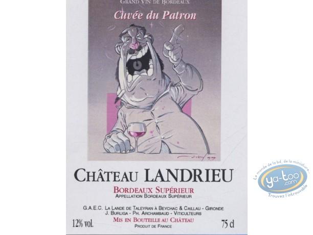 Wine Label, Fat - Chateau Landrieu