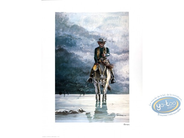 Offset Print, Comanche : Red Dust on Horse