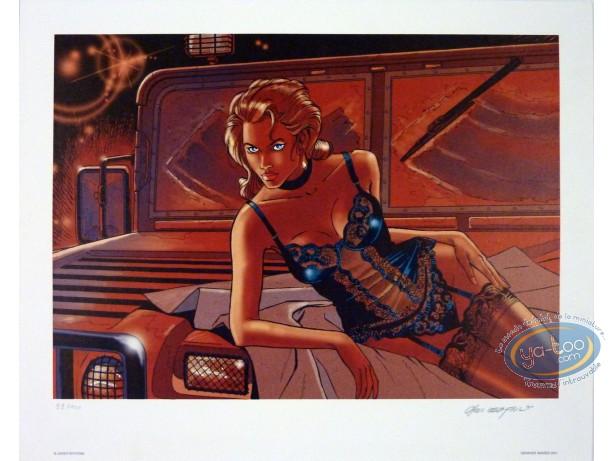 Offset Print, Wayne Shelton : Woman & Jeep