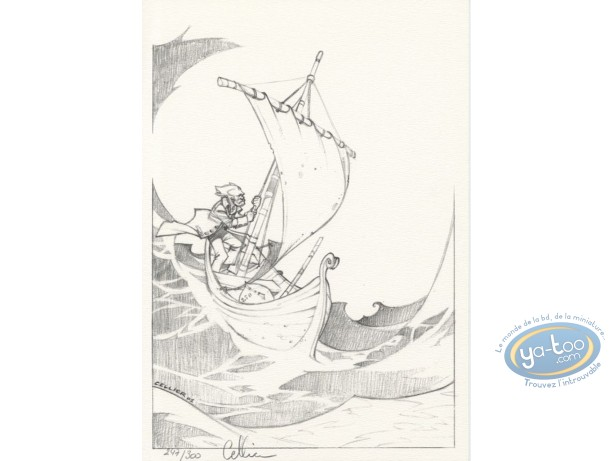 Bookplate Offset, Maître du Hasard (Le) : The boat