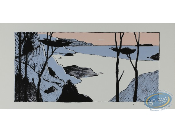 Serigraph Print, Avril : Beach