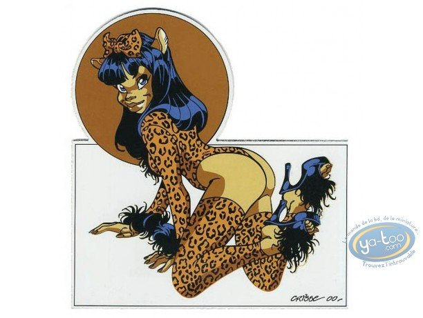 Bookplate Serigraph, Pin-Up : Pin-up leopard (not signed)