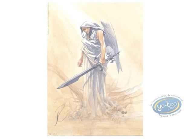Bookplate Offset, Paradis Perdu : Warrior with Sword