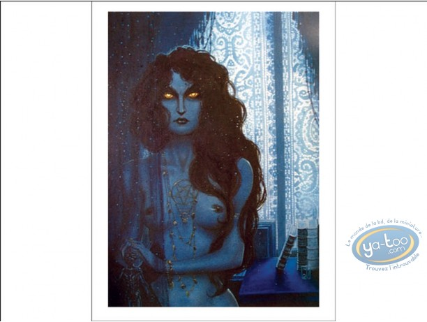 Offset Print, Woman in Blue