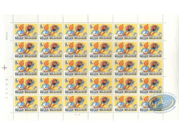 Stamp, Tintin : 30 stamps sheet