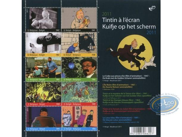 Stamp, Tintin : 10 stamps sheet