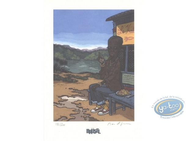Bookplate Offset, Deogratias : Man smoking