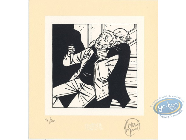 Bookplate Serigraph, Assassine : Strangulation