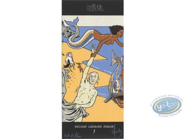 Bookplate Serigraph, Warnauts, Sirène