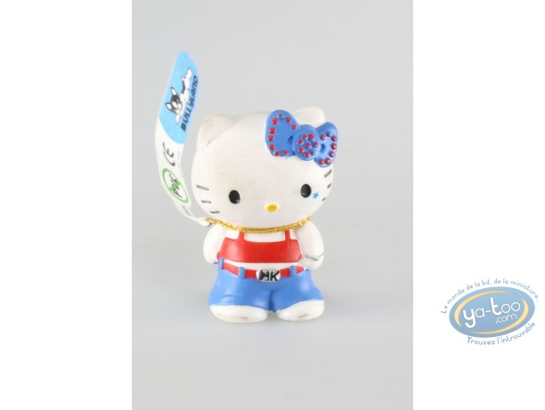 Plastic Figurine, Hello Kitty : Hello Kitty cool in jeans
