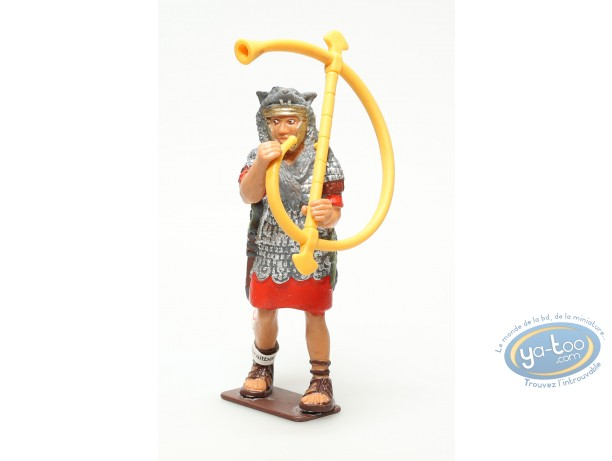 Plastic Figurine, Plastic figure, Antiques : Legionnaire with horn