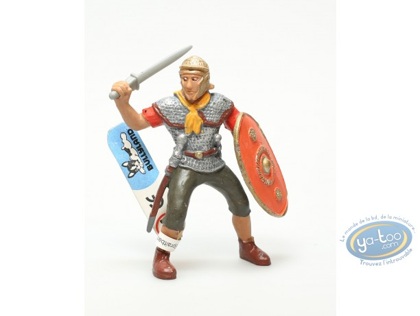 Plastic Figurine, Plastic figure, Antiques : Legionnaire with sword and round shield