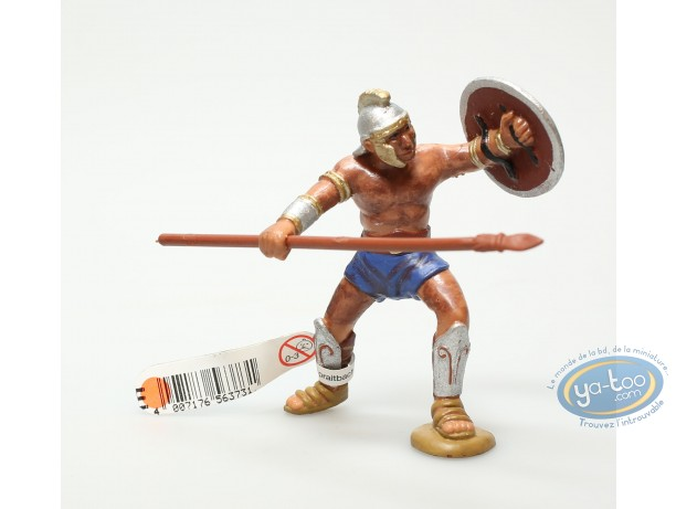 Plastic Figurine, Plastic figure, Antiques : Gladiator with spear