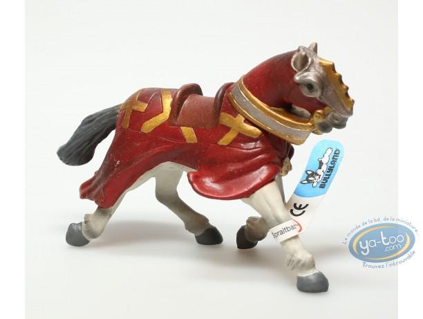Plastic Figurine, Plastic figure, Knight : horse with red cape