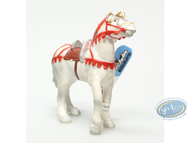 Plastic Figurine, Plastic figure, knight : White horse with red arnachement