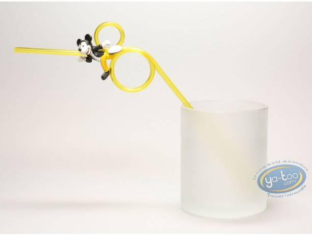 Tableware, Mickey Mouse : Straw, Mickey yellow clothes, Disney