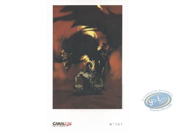 Bookplate Offset, Seed : Man & Dragon