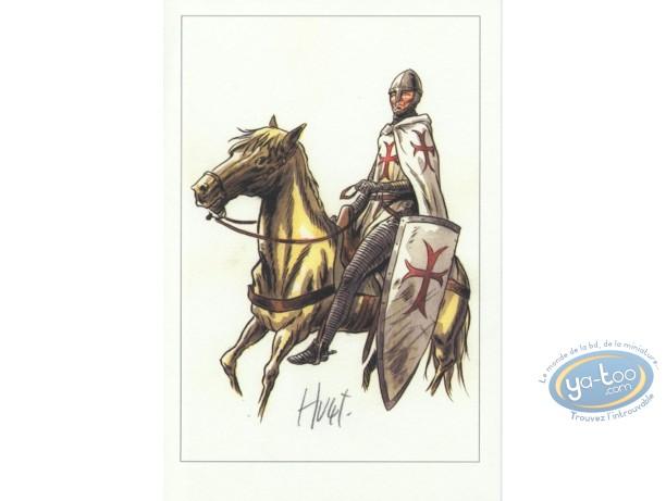 Bookplate Offset, Extra-Muros : Templar on Horse
