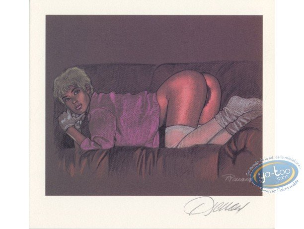 Bookplate Offset, Jessica Blandy : On the couch