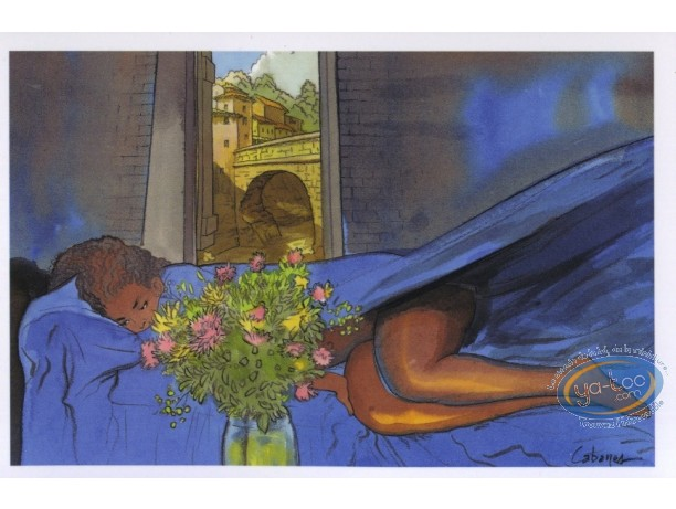 Post Card, Rencontres : Naked woman in blue sheets