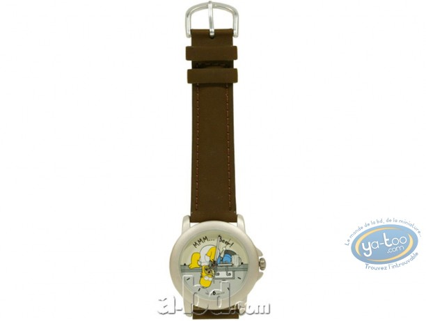 Clocks & Watches, Simpson (Les) : Watch, The Simpsons : Homer beer (leather strap)