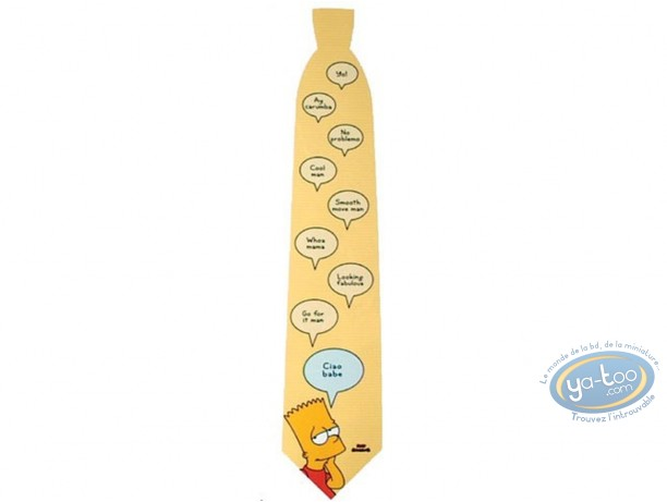 Clothes, Simpson (Les) : Simpson bart yellow tie