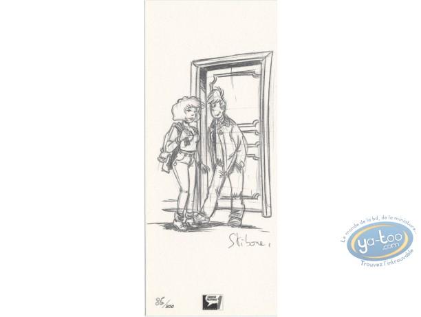 Bookplate Offset, Enquêtes Scapola (Les) : Sketch